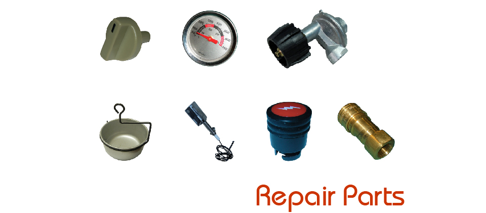 Repair Parts - Knobs, Lid Handles, Hoses, Regulators, Plumbing, Ignitors, Ignitor Wires, Spark Generators, Electrides